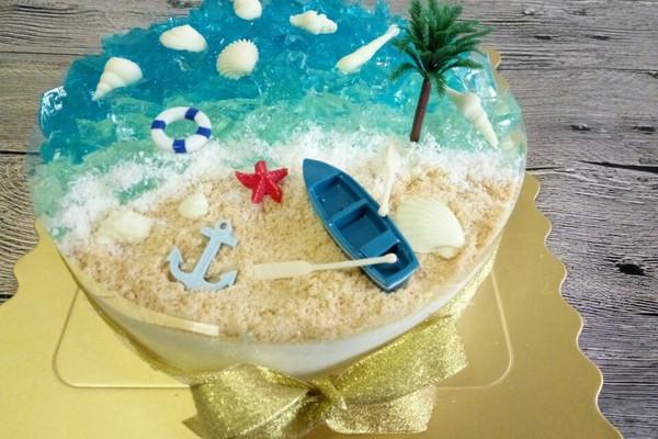海洋酸奶慕斯蛋糕——乐众缤纷夏日烘焙大赛获奖作品图片