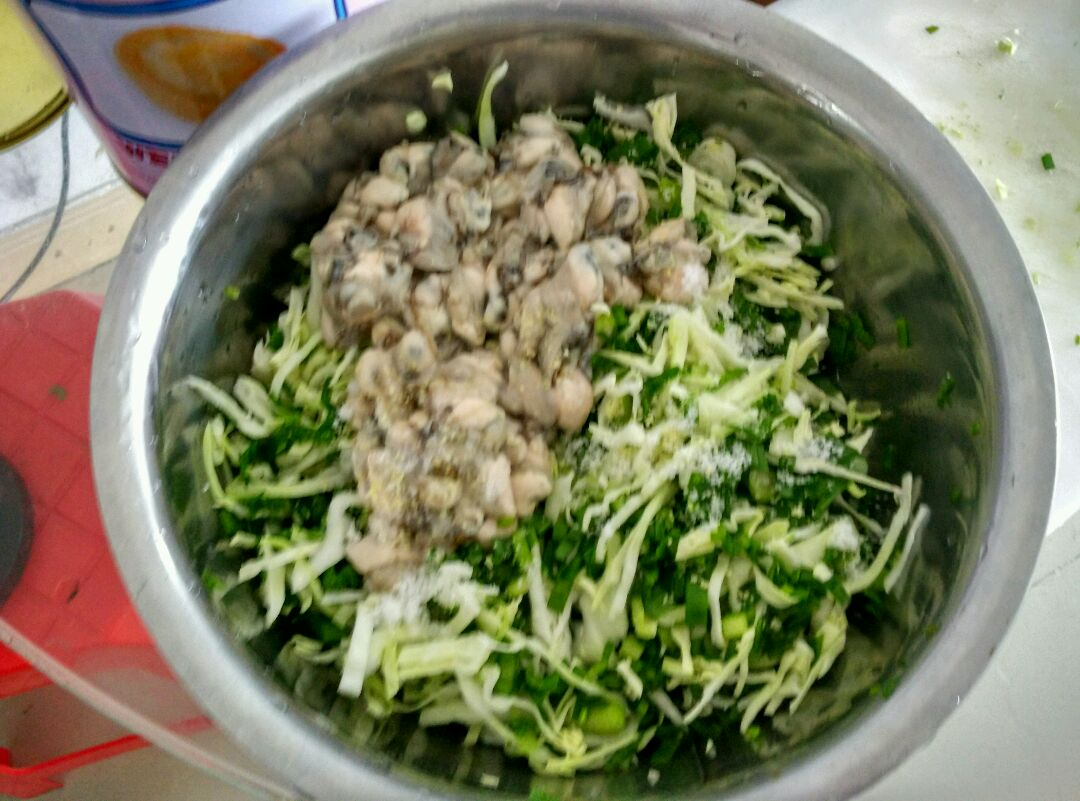 高丽菜海蛎煎的做法图解2