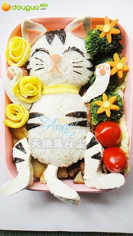 可爱猫咪便当的做法_【图解】可爱猫咪便当怎么做如何