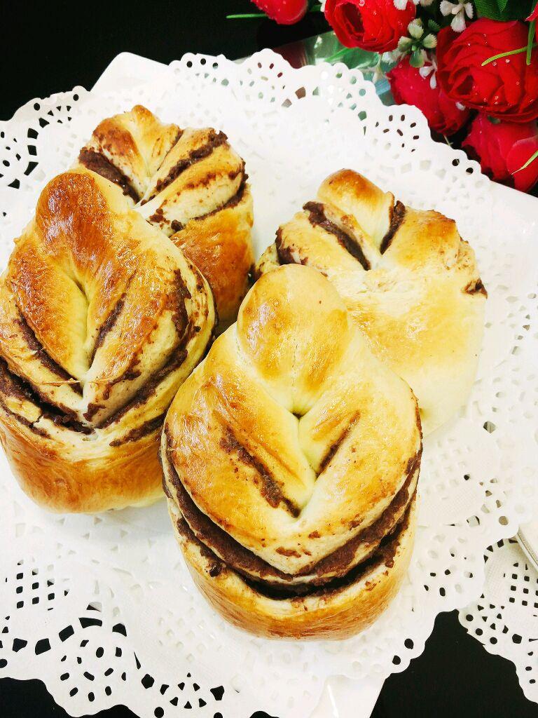 叶子豆沙面包的做法图解16