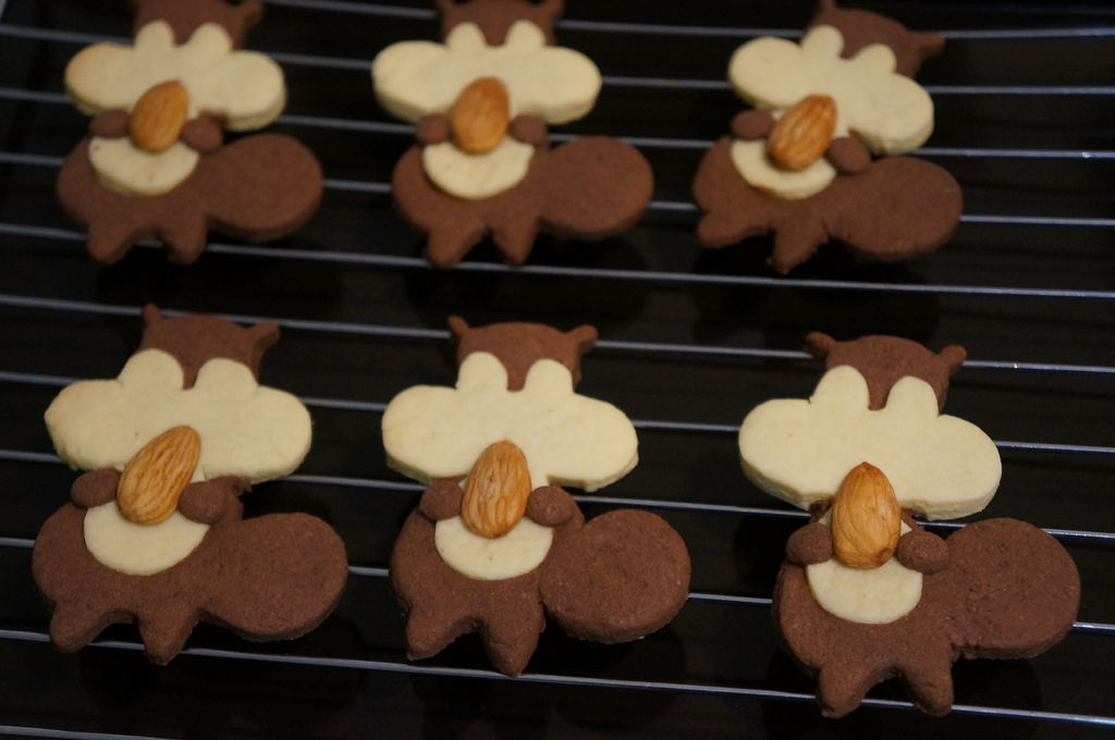 三款萌萌动物小饼干的做法图解11