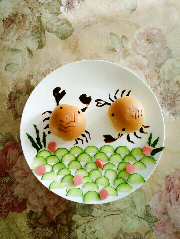小螃蟹儿童早餐的做法图解2