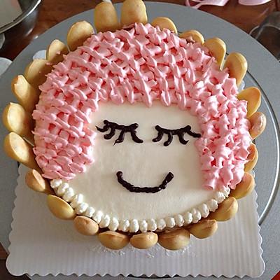 小女孩蛋糕的做法_【图解】小女孩蛋糕怎么做好吃
