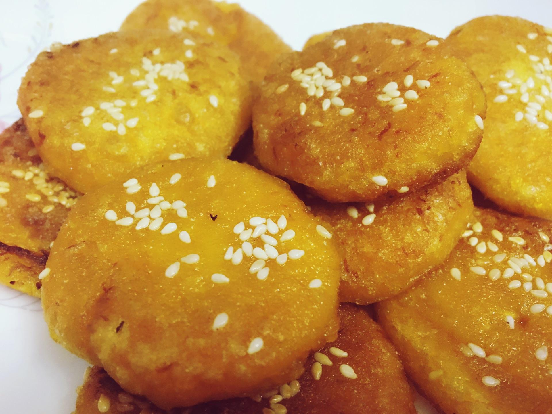 南瓜芝麻饼的做法_芝麻香南瓜饼的做法_【图解】芝麻香南瓜饼怎么做如何做好吃