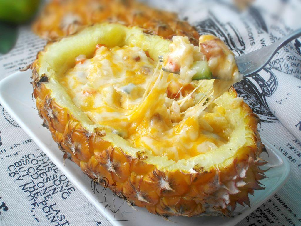 菠萝焗饭的做法_【图解】菠萝焗饭怎么做如何做好吃