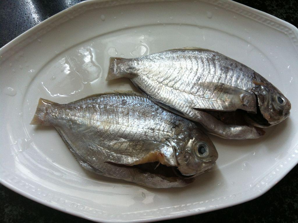 干煎海鱼(油鲫)的做法图解1