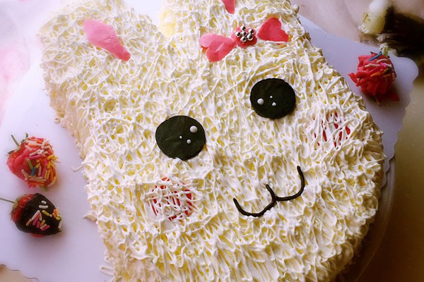 小兔子奶油蛋糕的做法