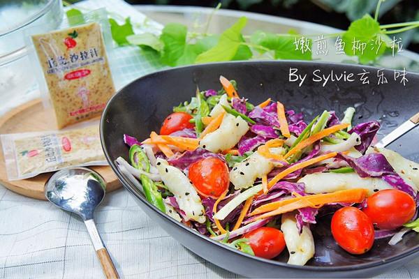 嫩煎鱼柳沙拉#丘比沙拉汁#的做法