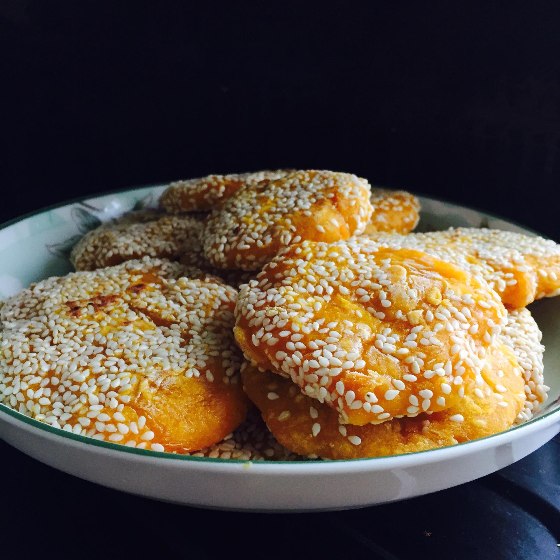 南瓜芝麻饼的做法_南瓜芝麻小饼的做法_【图解】南瓜芝麻小饼怎么做如何做好吃