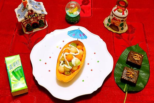 木瓜果盘的做法