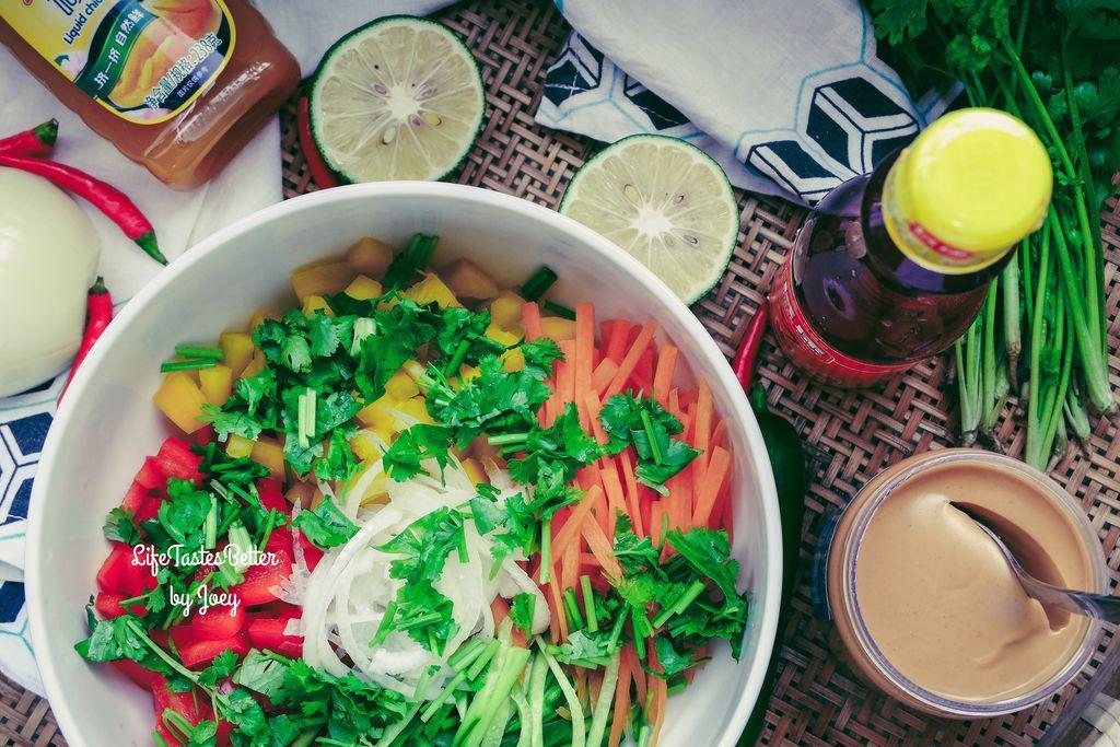 闷热黄梅里的清新小菜:东南亚风味蔬菜沙拉 #太太乐鲜鸡汁西式的做法图片