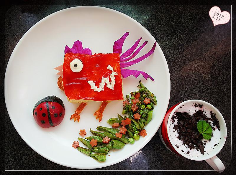 蛋糕盘手工制作图片瓢虫