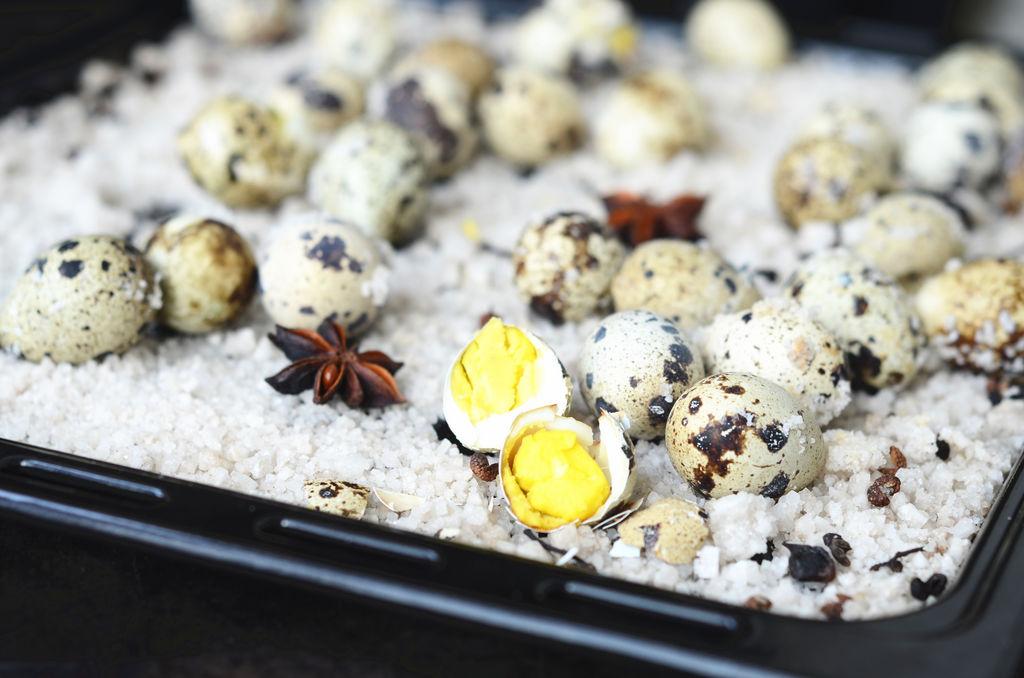 盐烤箱蛋#美的菜谱咖喱花卷粉可以做鹌鹑吗图片