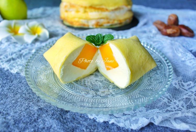 糖粉15g 黄油5g 淡奶油200g 糖粉入奶油20g 芒果班戟的做法步骤 小