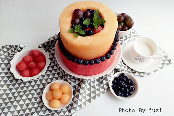 水果伪蛋糕的做法_【图解】水果伪蛋糕怎么做如何做
