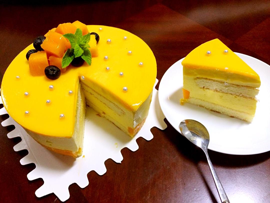芒果慕斯(六寸蛋糕底)
