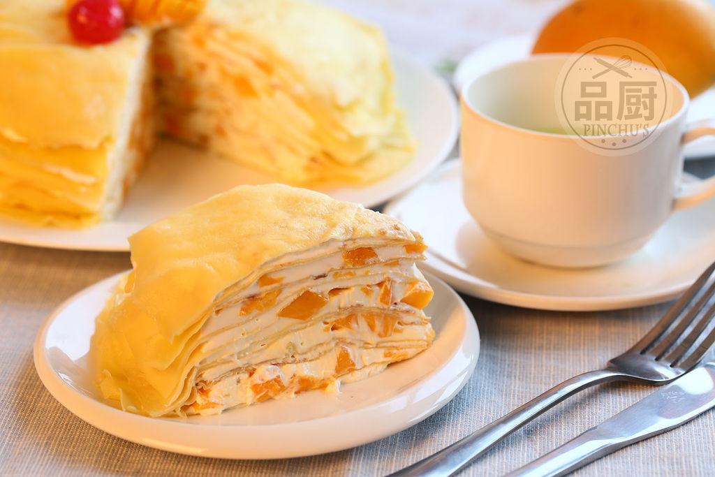 3个 220克 23克 100克 350克 2个 香草精少许 芒果千层蛋糕的做法步骤