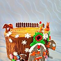 卡通树桩屋蛋糕#豆果5周年#的做法图解15