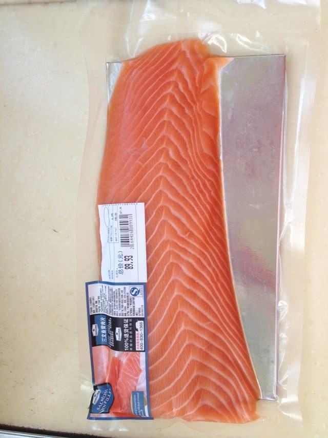 6m辅食—胡萝卜三文鱼泥的做法图解1