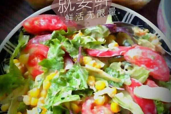 丘比千岛酱 必胜客玉米蔬菜沙拉的做法步骤