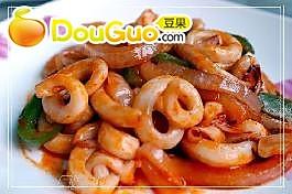 韩式辣炒鱿鱼的做法