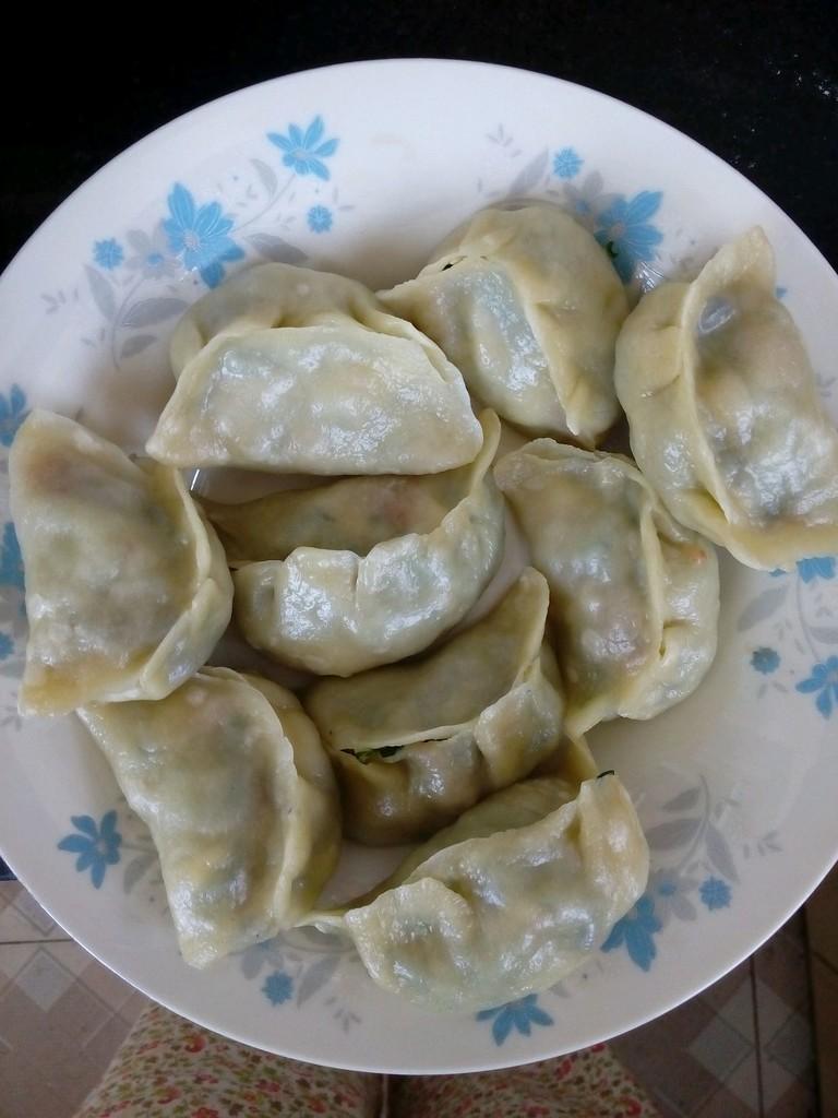 黄瓜 白玉菇大蒸饺的做法图解6