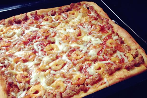 发面披萨做法大全图解