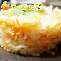生姜胡萝卜炒印度香米饭的做法