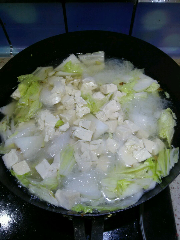 白菜炖豆腐的做法步骤