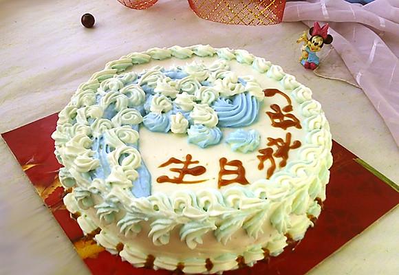 平面蛋糕手工制作图片