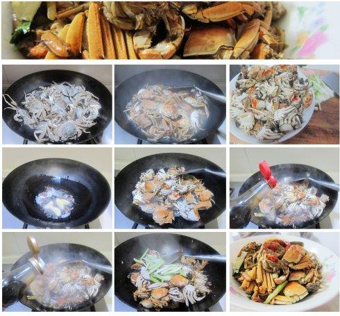 红烧小螃蟹的做法图解1