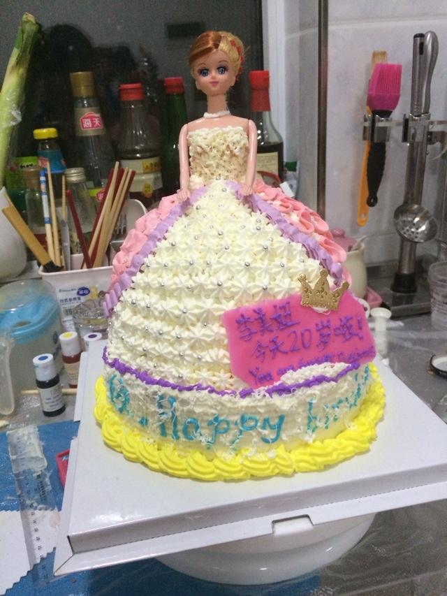 芭比娃娃蛋糕的做法图解1