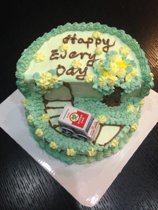 场景蛋糕 小汽车