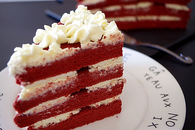 美味的红丝绒蛋糕