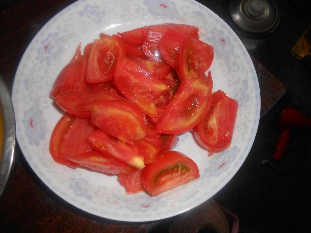 西红柿炒鸡蛋.的做法步骤