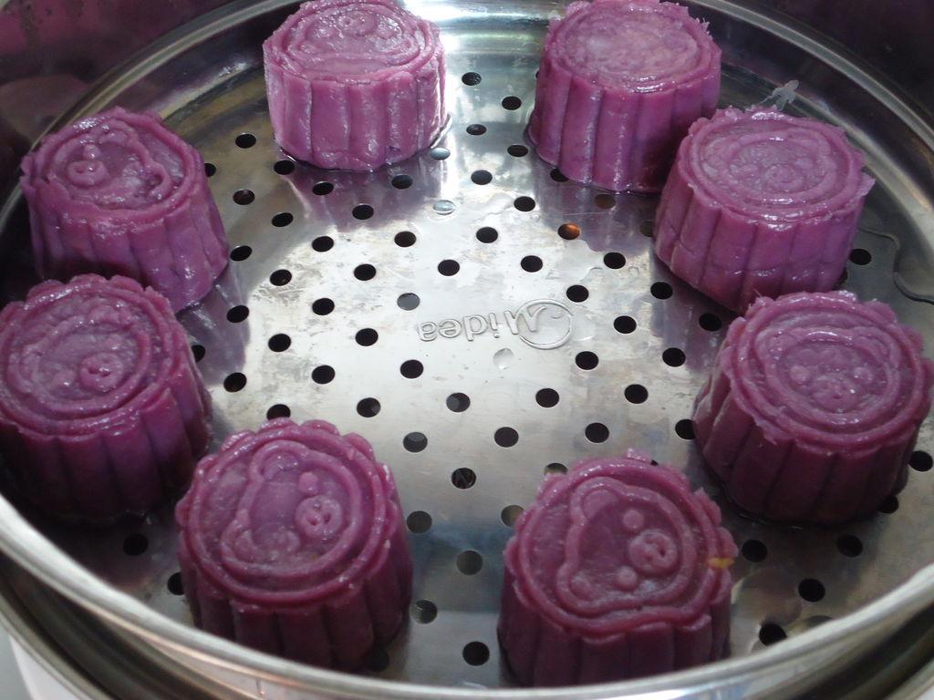 紫薯冰皮月饼的做法图解10