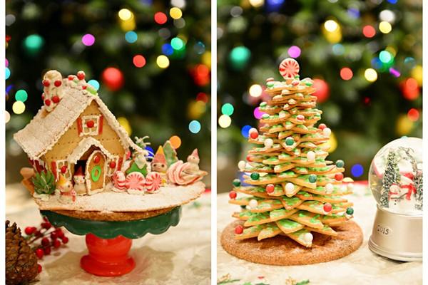 童话世界-圣诞姜饼屋和圣诞树的做法