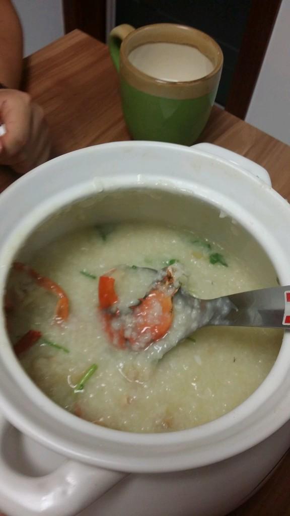 膏蟹干贝海鲜粥