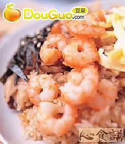 鲜虾仁油饭的做法