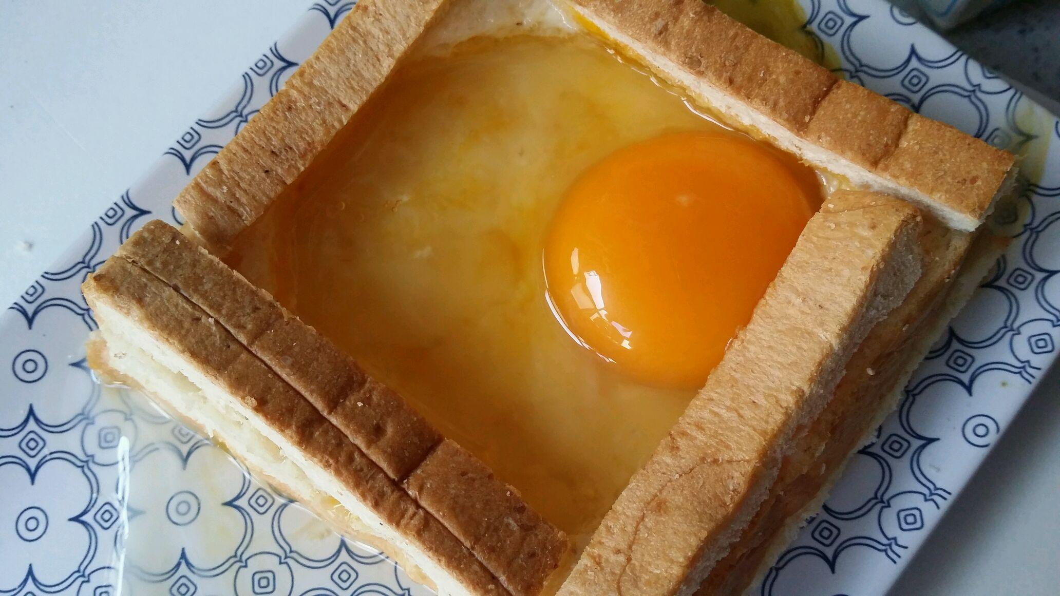 芝士吐司太阳蛋#看韩剧做早餐#的做法图解5