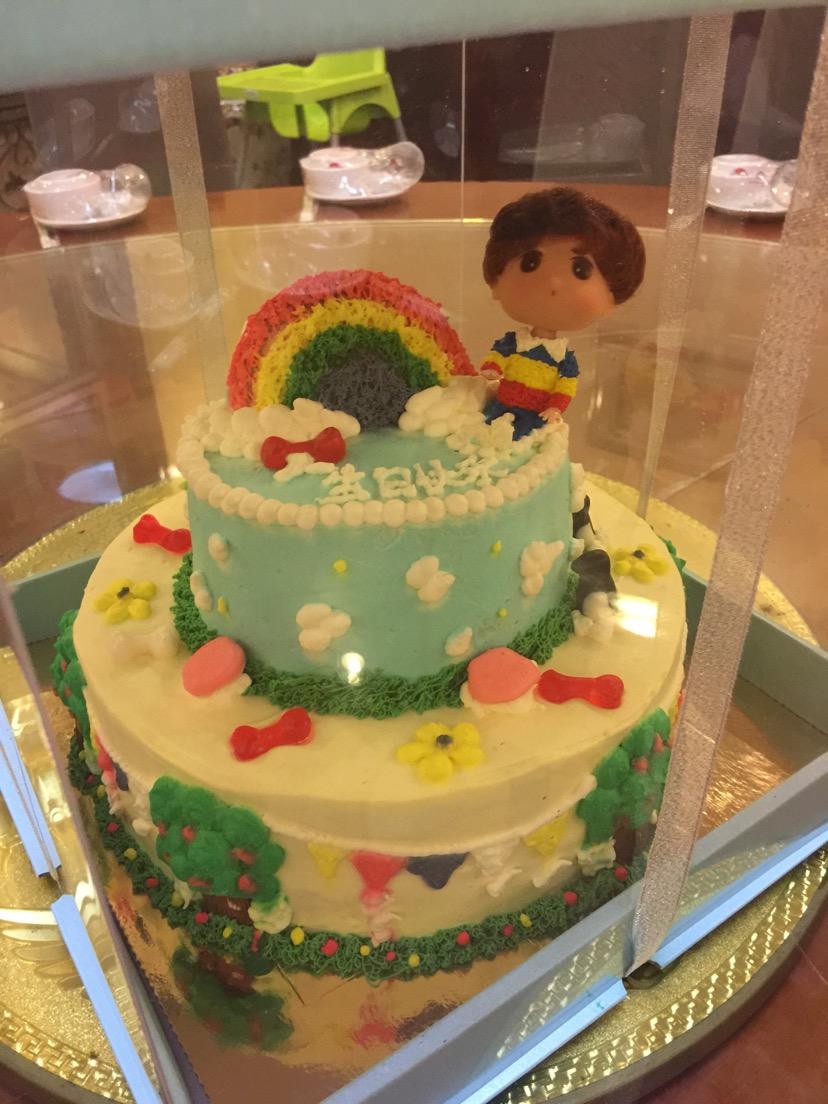 兒童雙層彩虹生日蛋糕