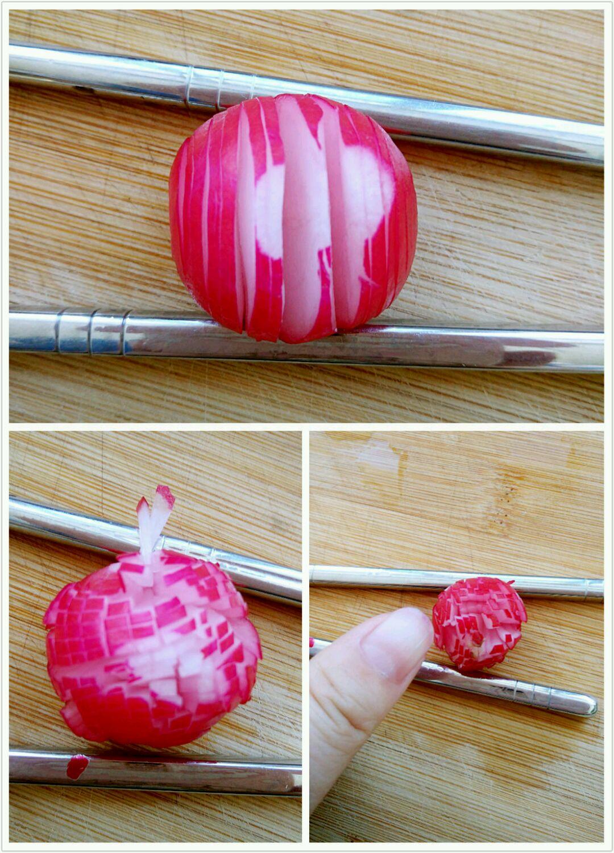 创意料理#牡丹花下(水果萝卜高逼格)的做法图解1