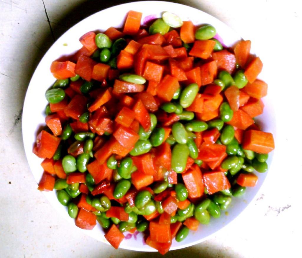 青豆炒胡萝卜