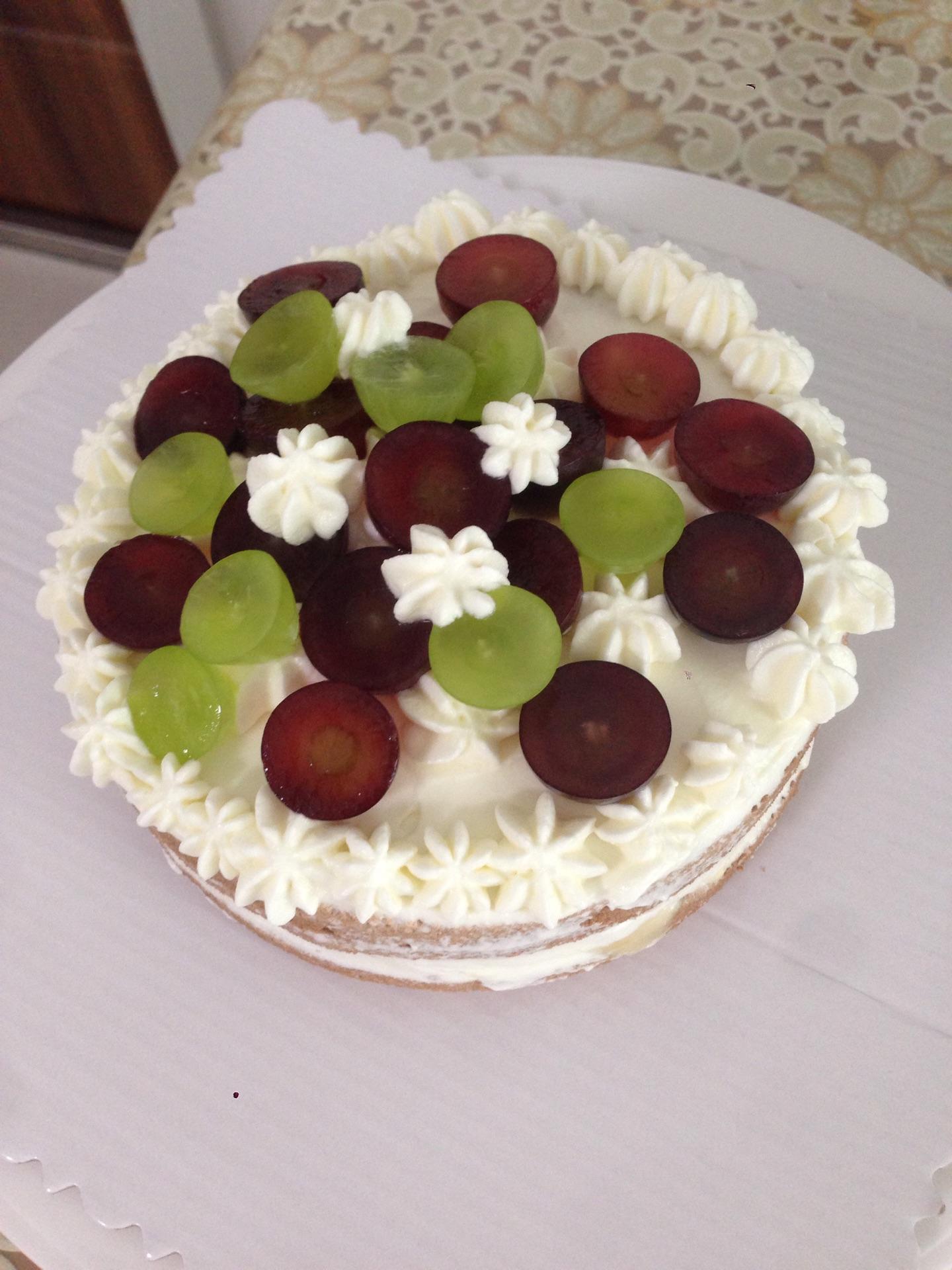 四寸小甜点葡萄蛋糕