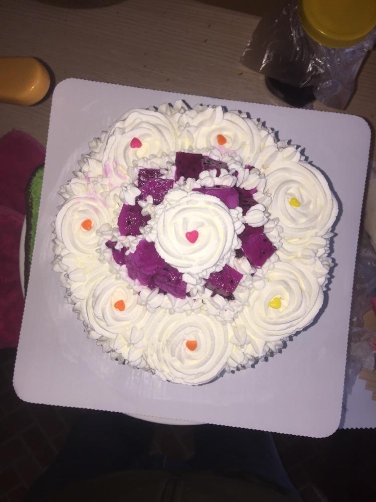 六寸水果蛋糕(简单)