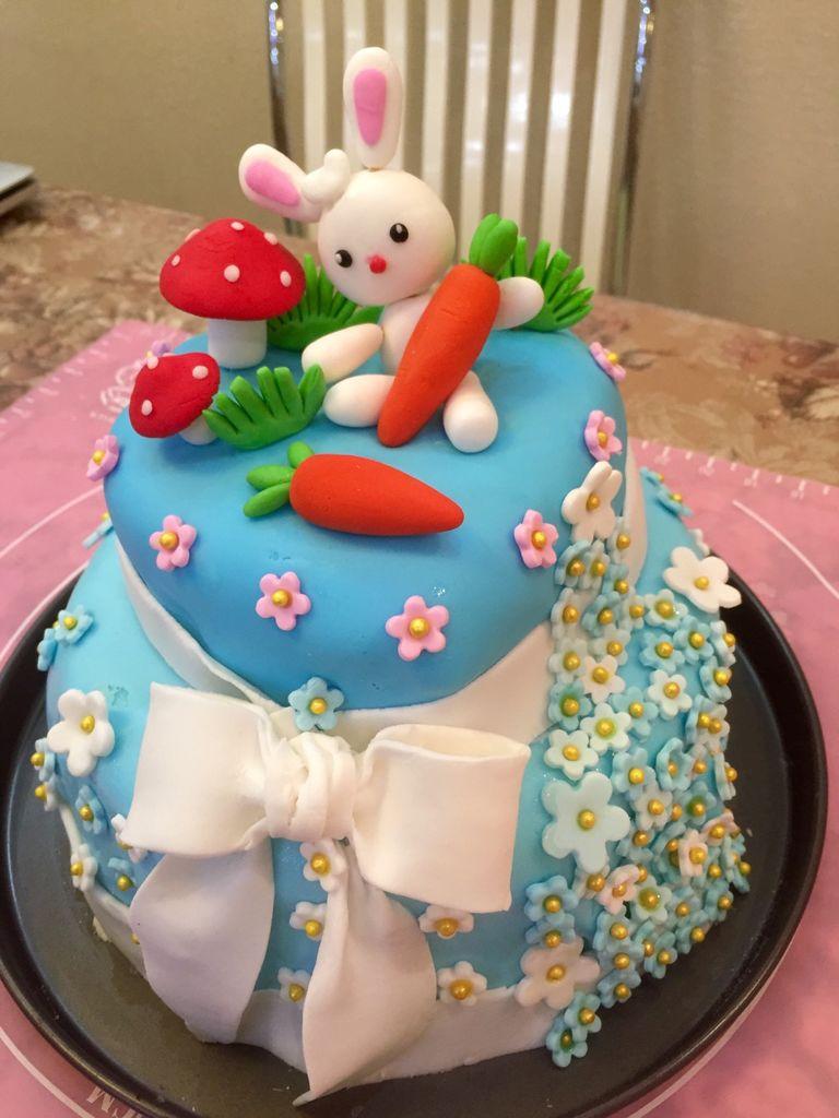 翻糖双层生日蛋糕的做法