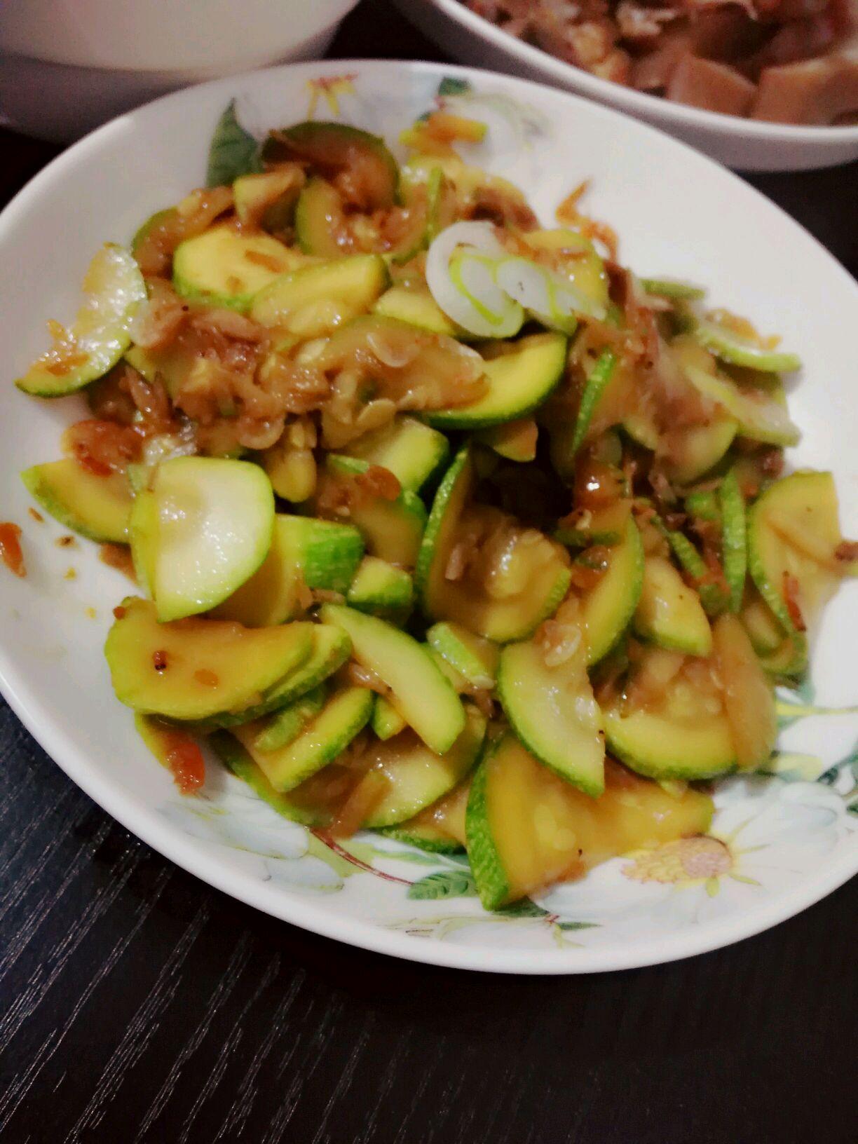 西葫芦虾皮的做法图解5