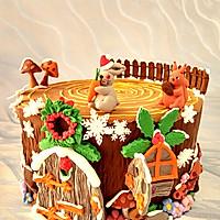 卡通树桩屋蛋糕#豆果5周年#的做法图解12