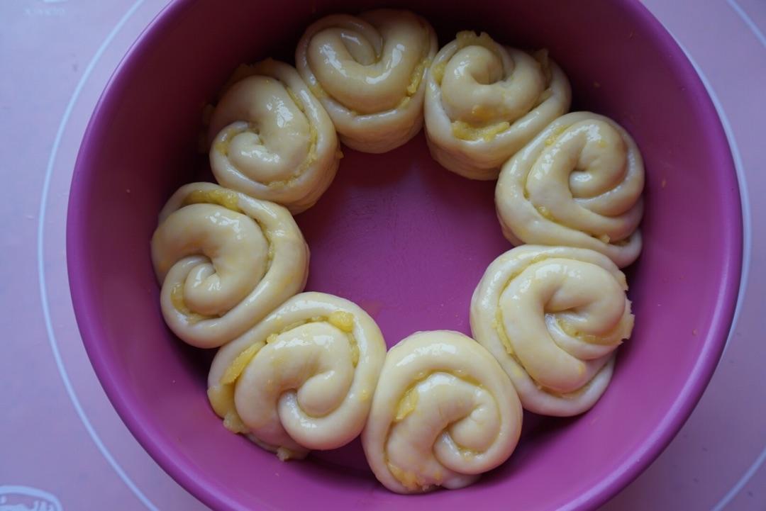 奶黄花环面包#浪漫樱花季