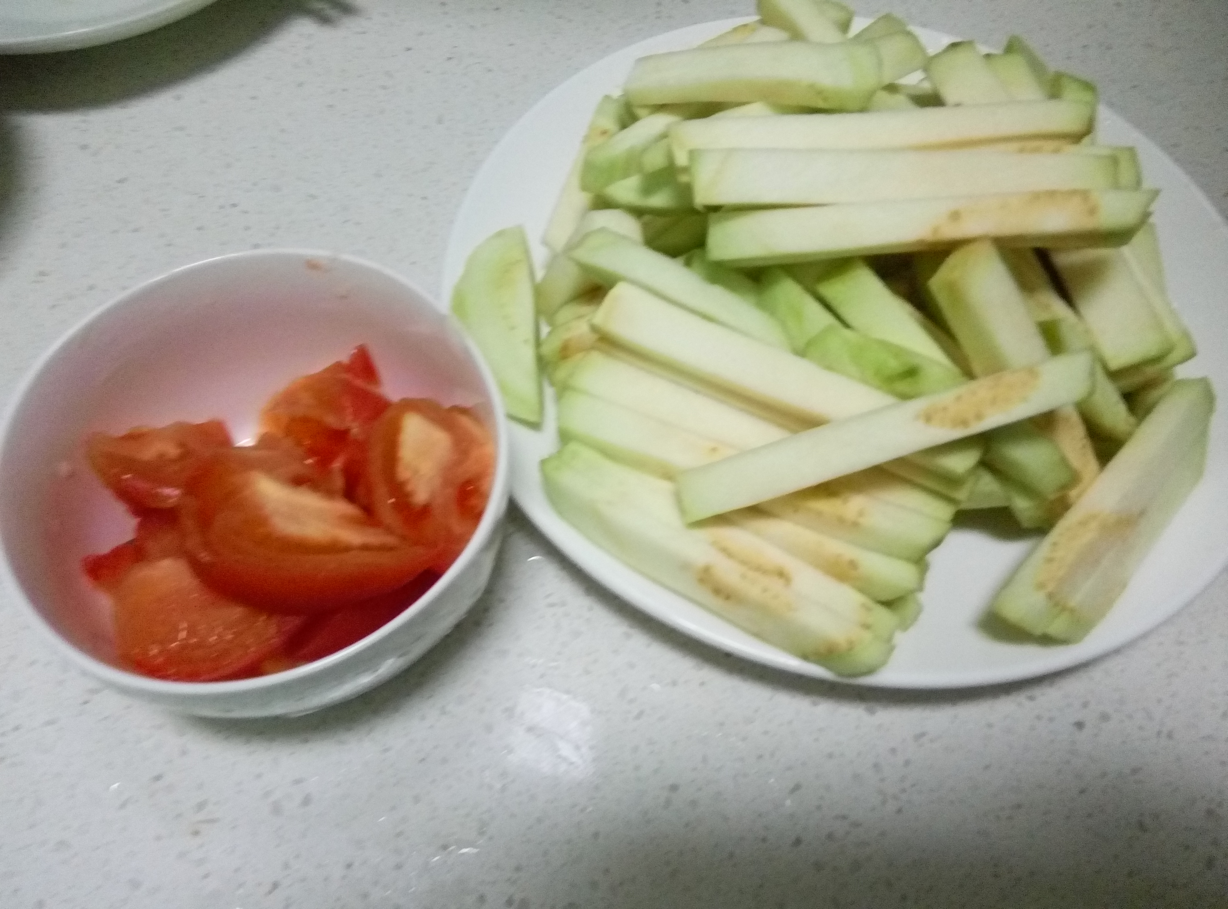 肉丝番茄烧茄子的做法步骤